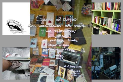 20151124-200_muses-Imatge_Maquina_escriure_llibreria_llibres_Joan_Lluis_Sagues-Text_Prestatgeria_de_records_Tere_SM