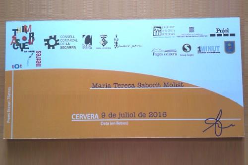 20160710-Premi_7_lletres-Teresa_Saborit-Consell_Comarcal_Segarra-Cultura_Paeria_Cervera-Manuel_Pedrolo