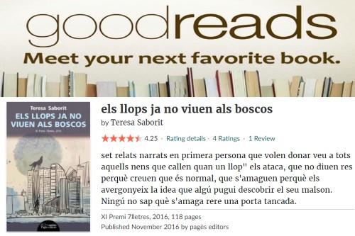 20171231-Goodreads-Opinions_lectors-Estrelles-Els_llops_ja_no_viuen_als_boscos