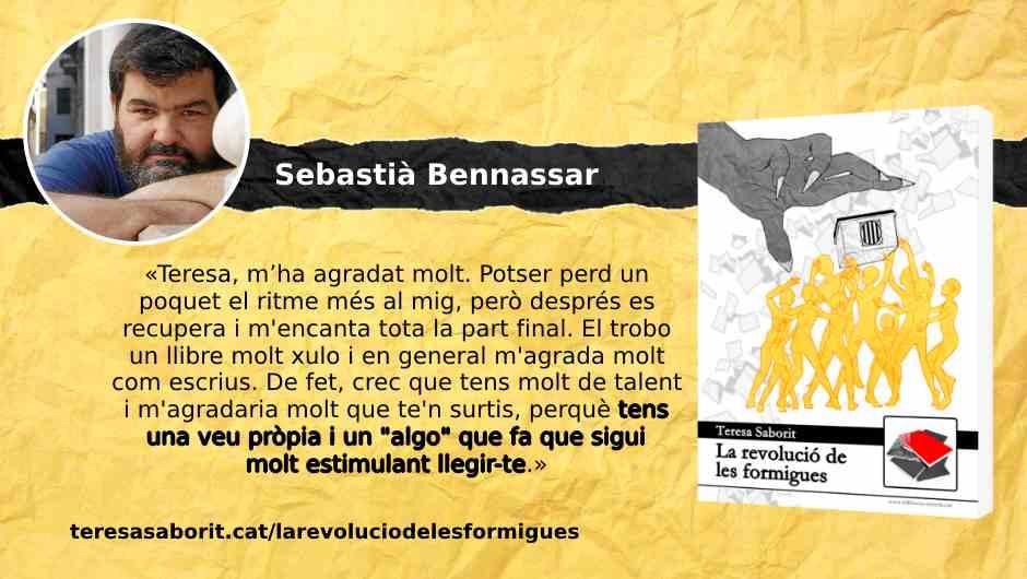 20190712-LaRevoluciodelesFormigues-Opinio_lector_Sebastia_Bennassar-Tens_una_veu_propia