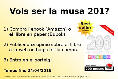 20160415-Llibre_ebook-Promocio_200_muses-Teresa_Saborit-Best_seller_Amazon-Sant_Jordi