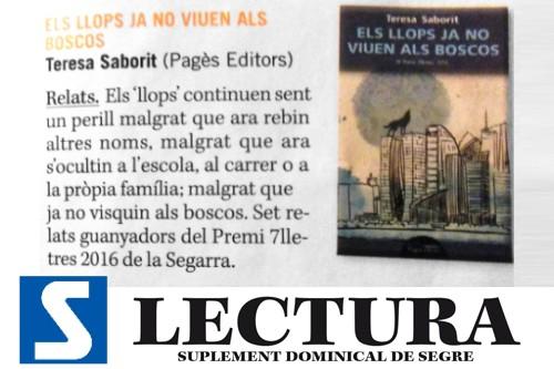 20161225-diari_segre-lectura-els_llops_ja_no_viuen_als_boscos-premi_7_lletres-teresa_saborit-pages_editors