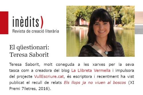 20170623-Entrevista-Revista_Inedits-Creacio_literaria-Questionari_relat_conte-Teresa_Saborit-Silvia_Romero