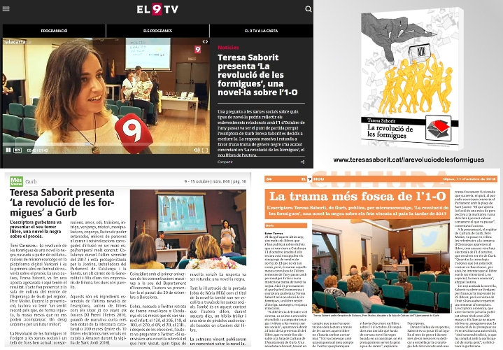 20181011-La_revolucio_de_les_formigues-Novel-la_negra-Gurb-El9nou-El9TV-Revista_Mes_Osona