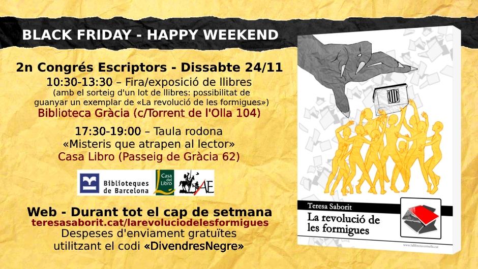20181122-La_revolucio_de_les_formigues-Black_Friday-Congres_escriptors-Casa_libro_Barcelona
