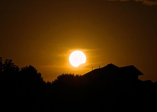 Partial Solar Eclipse Over Beaver Lake (Doug Wertman)
